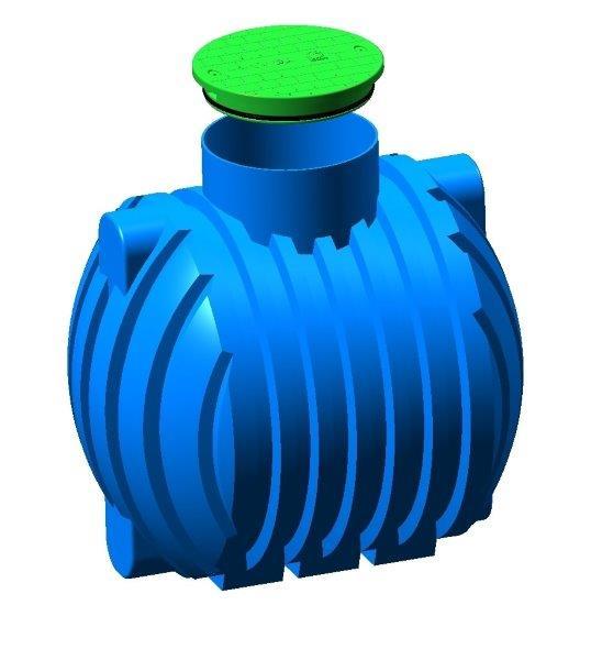 2000 Liter Regenwassertank Kunststoff Regenwasserspeicher